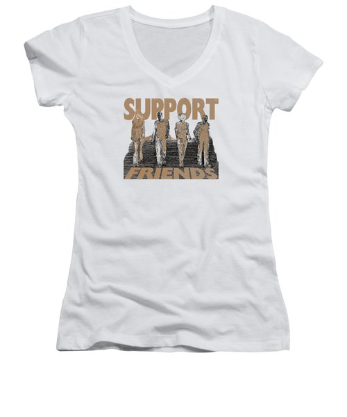 Support Friends Women's V-Neck