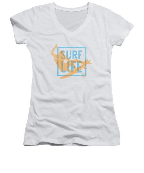 Surf Life 1 Women's V-Neck T-Shirt