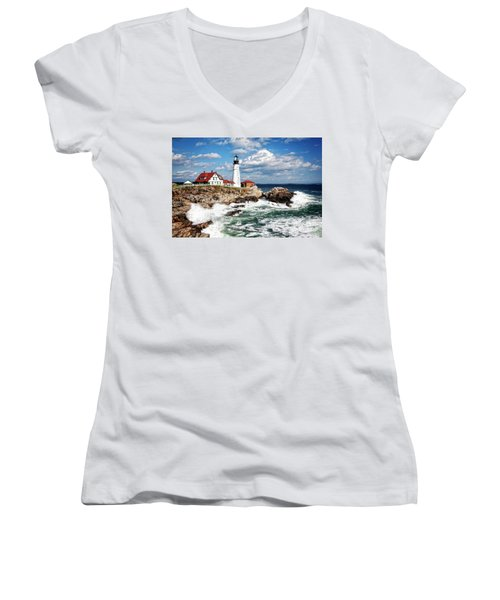 Surf Meets Land Women's V-Neck