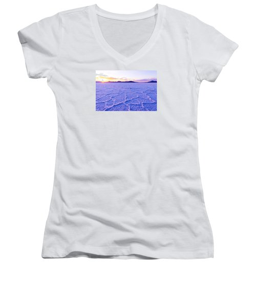 Surreal Salt Women's V-Neck T-Shirt (Junior Cut) by Chad Dutson