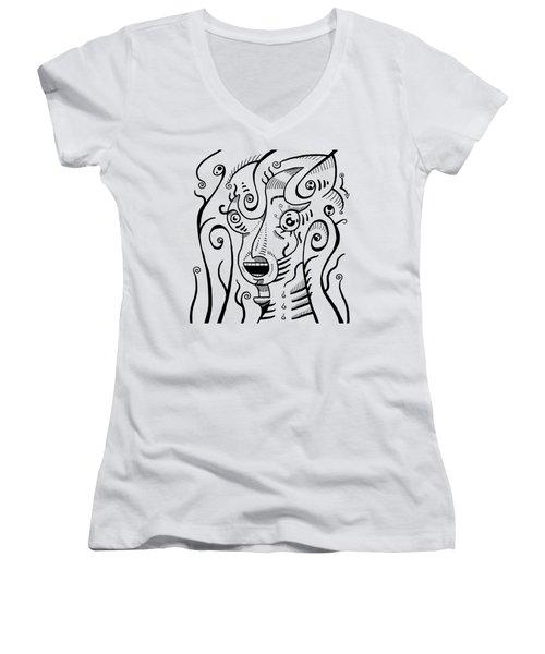 Surreal Scream Women's V-Neck T-Shirt