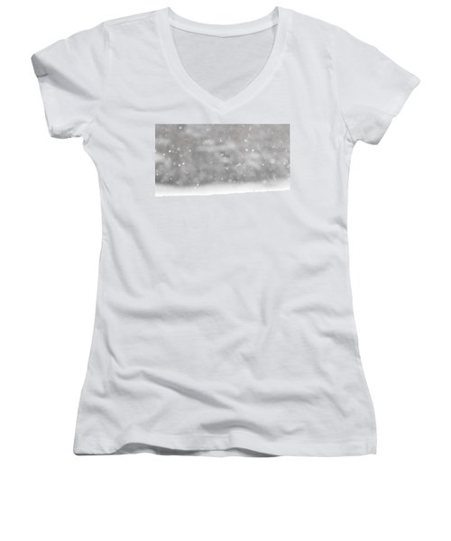 Surreal Snowdrops Women's V-Neck