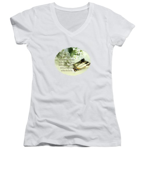 Swallowtail And Lilac Women's V-Neck T-Shirt