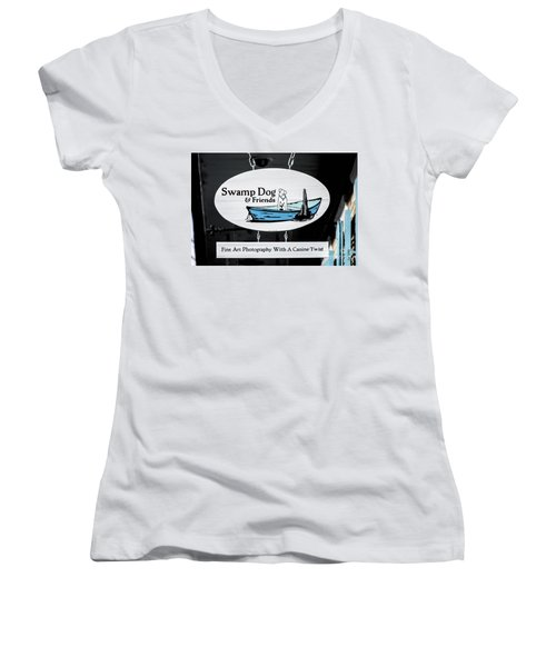Swamp Dog And Friends Women's V-Neck (Athletic Fit)