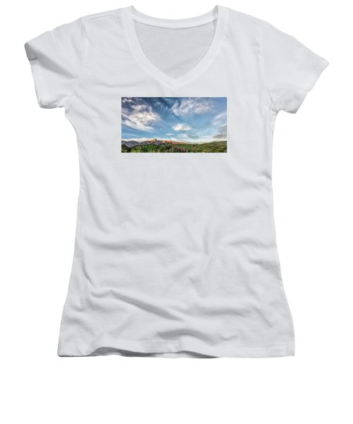 Sweeping Clouds Women's V-Neck T-Shirt