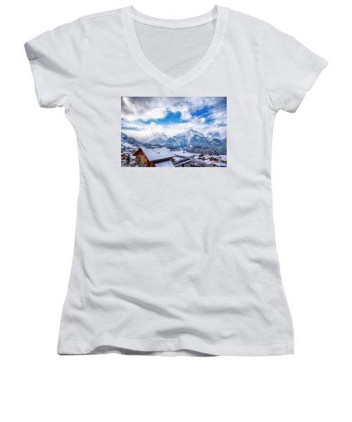 Swiss Alps Women's V-Neck T-Shirt