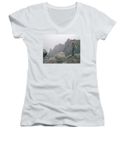 T-04701 Fred Beckey On Mt. Si 1958  Women's V-Neck