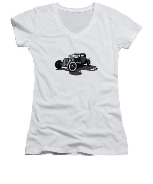 T Rex Women's V-Neck T-Shirt (Junior Cut) by Douglas Pittman