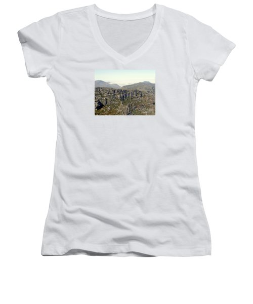 Table Rock View Women's V-Neck T-Shirt (Junior Cut) by John Potts