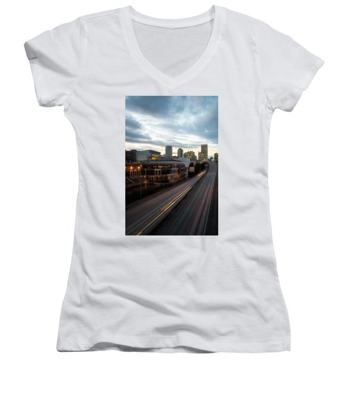 Tacoma Exit Here Women's V-Neck (Athletic Fit)