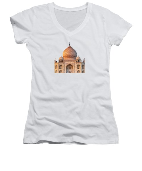 Taj Mahal T Women's V-Neck (Athletic Fit)