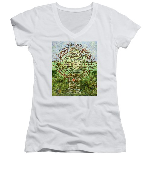 Take Lord, Receive Women's V-Neck (Athletic Fit)