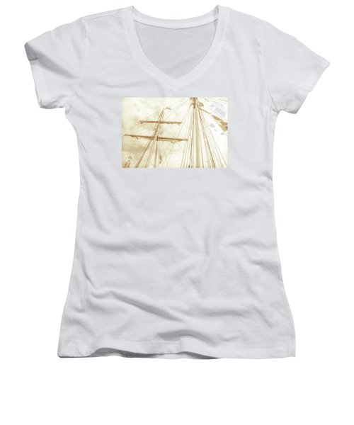 Tall Ship - 1 Women's V-Neck