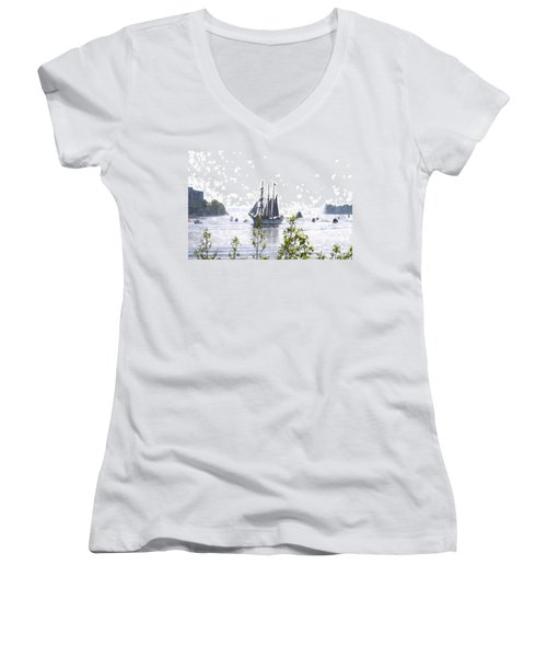 Tall Ship Tswc Women's V-Neck (Athletic Fit)