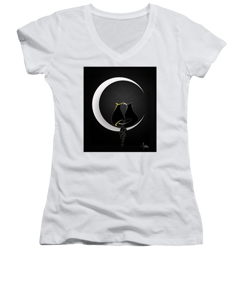Talleycats - Moonglow Women's V-Neck