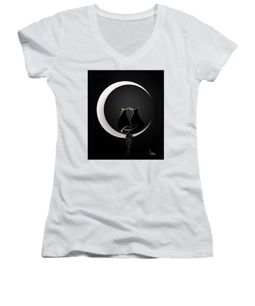 Talleycats - Moonglow Women's V-Neck (Athletic Fit)