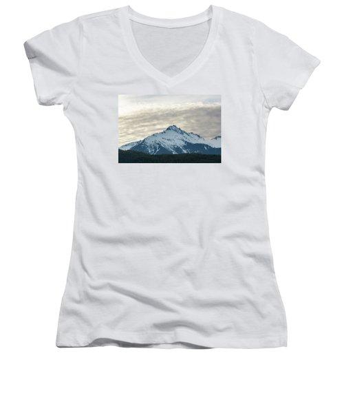 Tantalus Mountain Range Closeup Women's V-Neck (Athletic Fit)