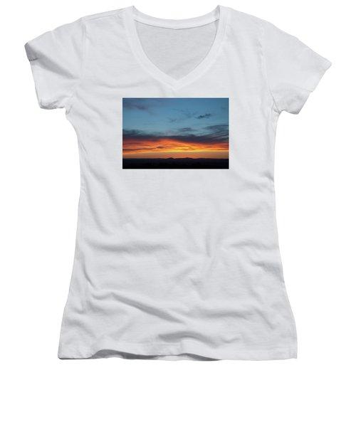 Taos Mesa Sunset Women's V-Neck