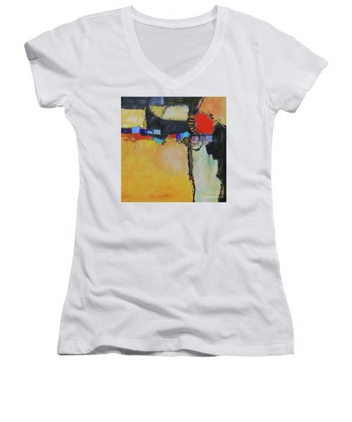 Targeted Women's V-Neck T-Shirt (Junior Cut) by Ron Stephens
