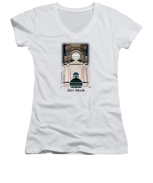 Tarrant County Clock T-shirt Women's V-Neck T-Shirt