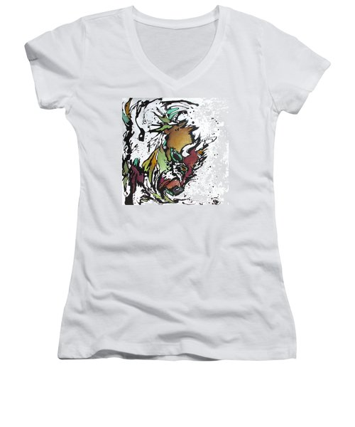 Tatonka Tt Women's V-Neck T-Shirt (Junior Cut) by Nicole Gaitan