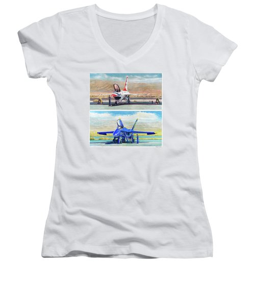 Tbirds And Angels Maintenance Women's V-Neck
