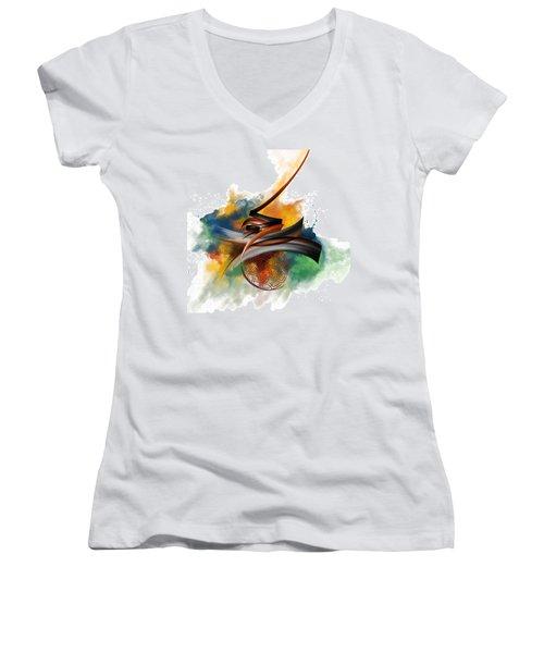 Tc Calligraphy 34 Women's V-Neck T-Shirt