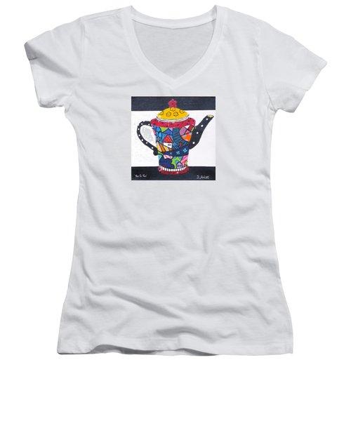Tea For Two Women's V-Neck T-Shirt