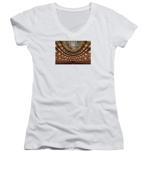 Teatro Colon Performers View Women's V-Neck T-Shirt