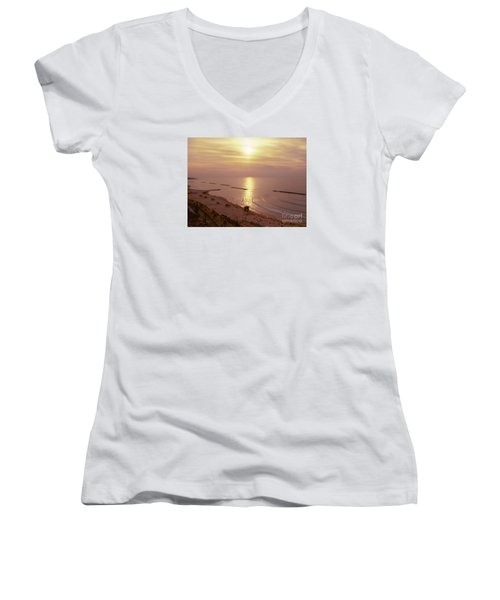 Tel Aviv Beach Morning Women's V-Neck (Athletic Fit)