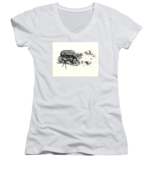 Darkling Beetle Women's V-Neck (Athletic Fit)