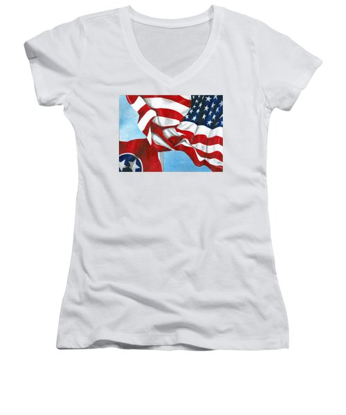 Tennessee Heroes Women's V-Neck (Athletic Fit)