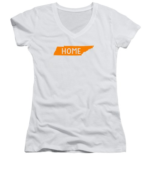 Tennessee Home Orange Women's V-Neck (Athletic Fit)