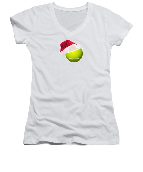 Tennis Christmas Gifts Women's V-Neck T-Shirt (Junior Cut) by MGdezigns