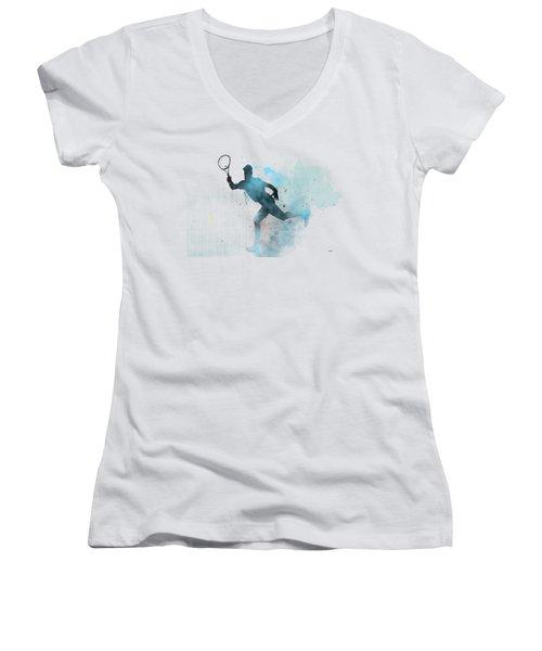 Tennis Player -19 Women's V-Neck T-Shirt