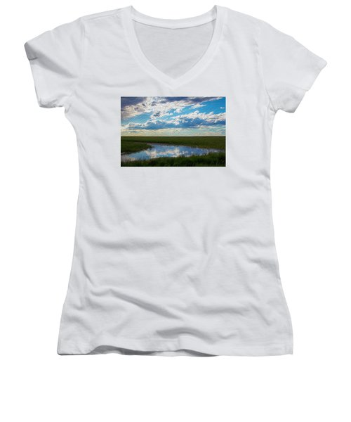 Terrace Pond Women's V-Neck T-Shirt