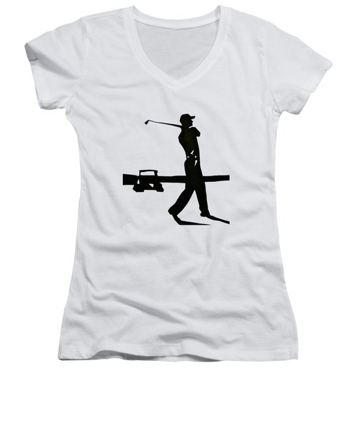 Test Women's V-Neck T-Shirt (Junior Cut) by Anna Ruzsan