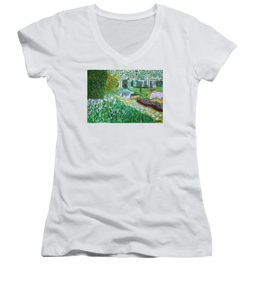 Tete D'or Park Lyon France Women's V-Neck T-Shirt
