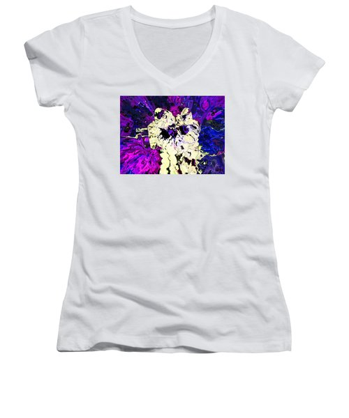 Tethered In Space Women's V-Neck T-Shirt