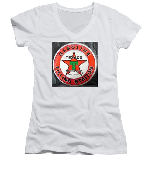 Texaco Sign Women's V-Neck