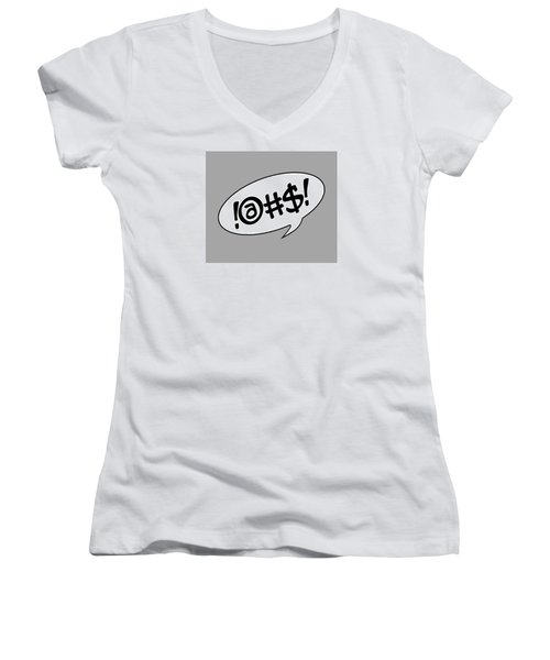 Text Bubble Women's V-Neck