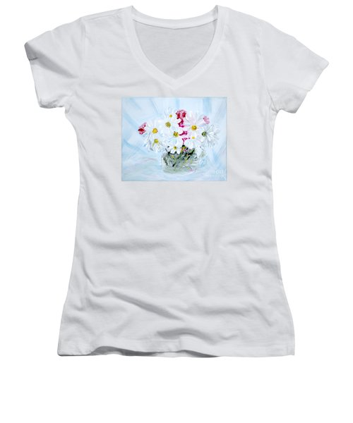 Thank You. Thank You - Je Vous Remerci Collection Of 2 Paintings Women's V-Neck (Athletic Fit)