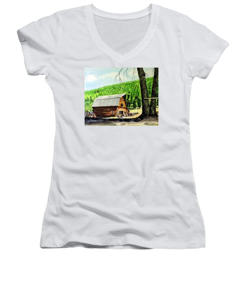 That Barn From That Movie Women's V-Neck T-Shirt