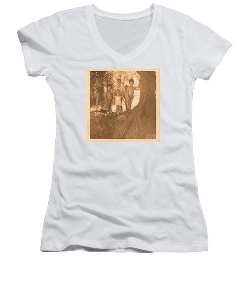 The 70's Series - 1 Women's V-Neck T-Shirt (Junior Cut) by Beto Machado