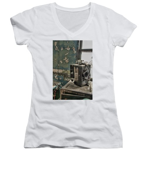 The Abandoned Projector Women's V-Neck