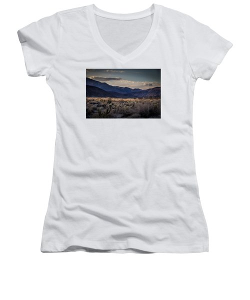 Women's V-Neck T-Shirt (Junior Cut) featuring the photograph The American West by Peter Tellone