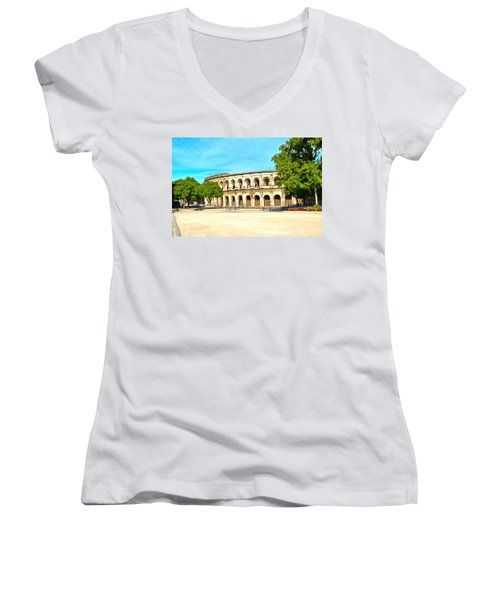 The Amphitheatre Nimes Women's V-Neck T-Shirt