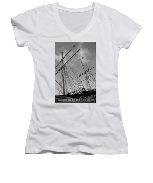 The Balclutha Caravel Women's V-Neck (Athletic Fit)