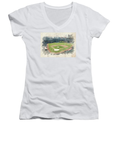The Ballpark Women's V-Neck T-Shirt