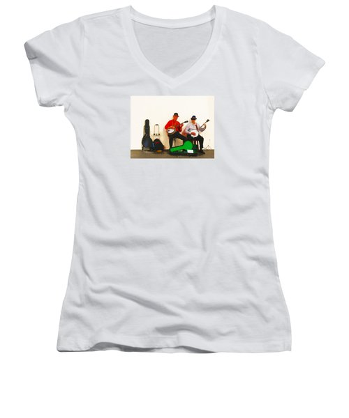 The Banjo Dudes Women's V-Neck T-Shirt